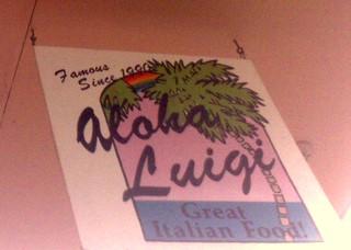 Aloha Luigi Sign